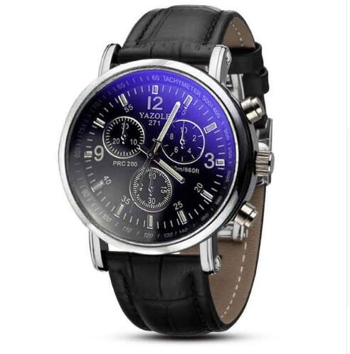 Fashion Men Date Alloy Case Synthetic Leather Analog Quartz Sport Watch Men Watches Top Brand Luxury Reloj Hombre 2019
