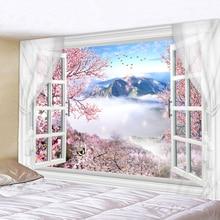 230x180cm Mandala Indian Tapestry Wall Hanging Romantic Cherry Blossoms Misty Mountain Bohemian Yoga Mat Home Bedroom Art Carpet