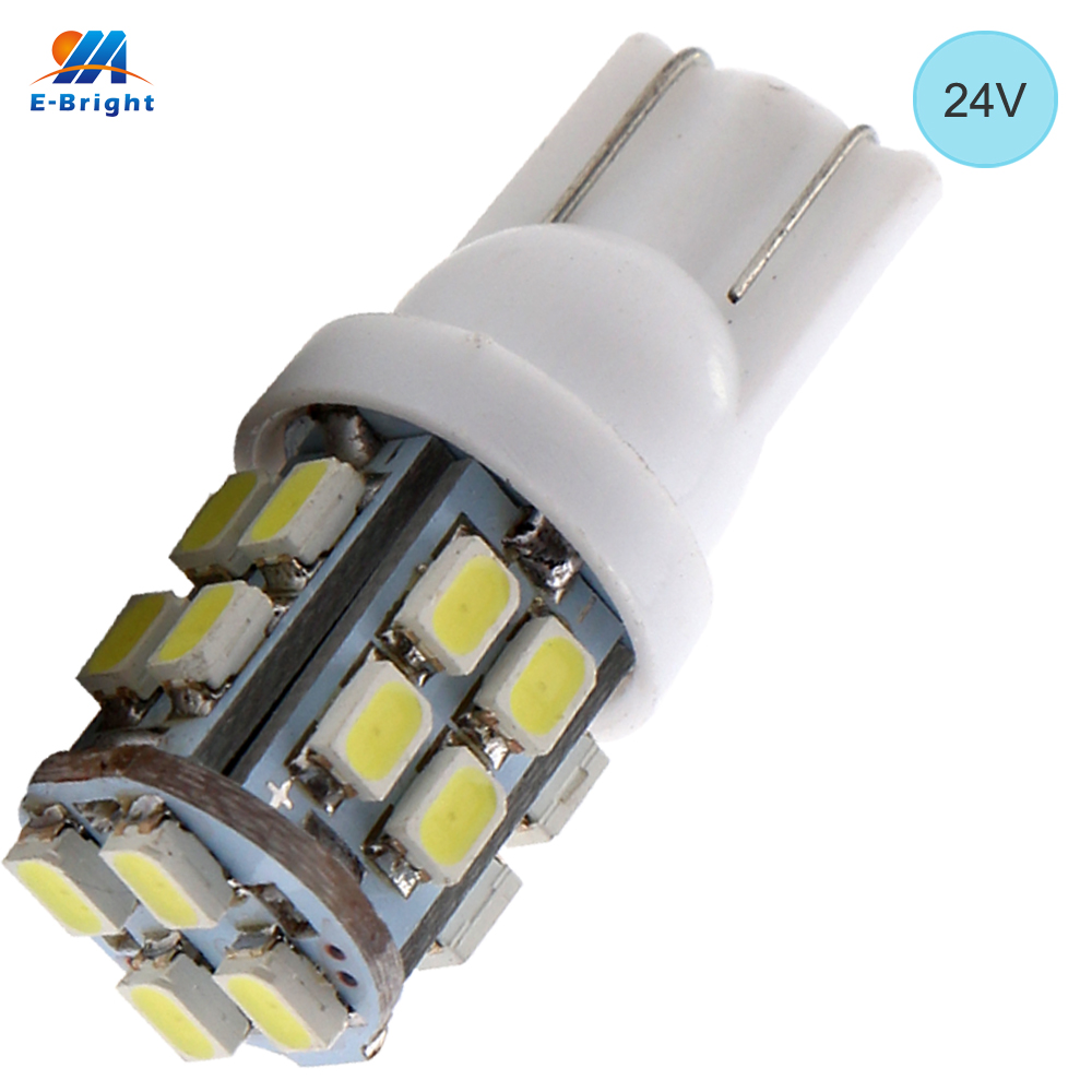 Car Lights Signal Lamp Ym E-bright 4pcs 24v T10 194 168 Led Lights 1206 20 Smd 20leds Signal Bulbs Led Clearance Lights W5w Car Styling Auto White Commodities Are Available Without Restriction