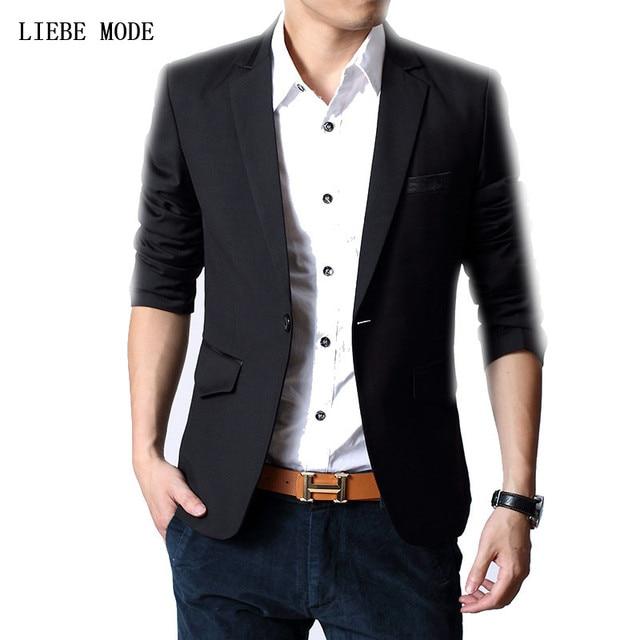 Nuevas Adquisiciones 2016 Slim Fit Negro Blazer Hombres