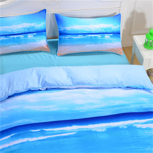 Image 4 - CAMMITEVER Sea Bedding Set Queen Size Duvet Cover Bed Set Beautiful Sea Bedclothes 3pcs AU Single Double King Queen