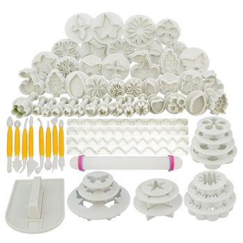 Sugarcraft Cake Decorating Tools Fondant Plunger Cutters Cake Tools Cookie Biscuit Cake Mold Bakeware Accessories K343