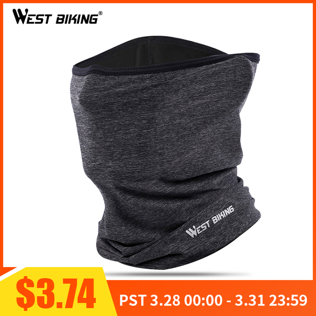 WEST BIKING Men's Headwear Bandana Cycling Half Face Mask Bike Neck Hood Cover Cycling Caps Anti-sweat Bicycle Face Mask Scarf
