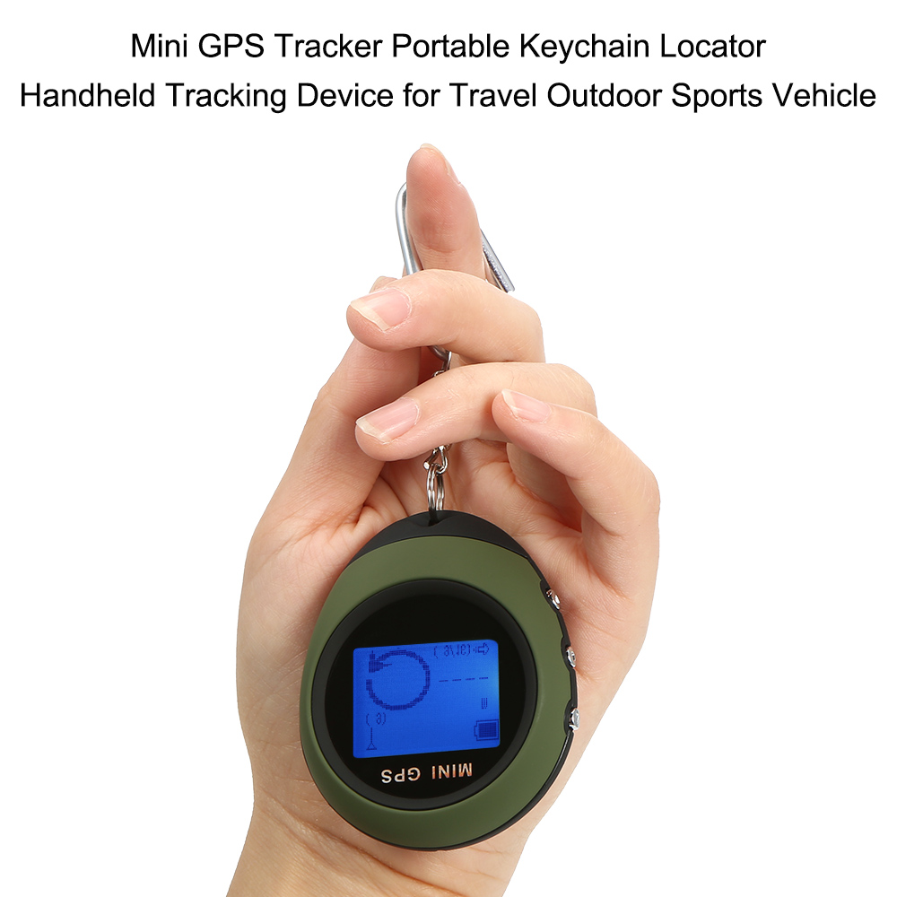 Mini GPS Tracker Portable Keychain Locator Handheld Tracking Device for Travel Outdoor Sports Vehicle