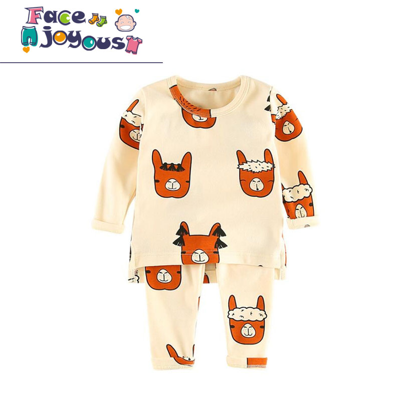 Baby Girls Clothes Infant Kids Pajamas Sets Children Tiny Cotton Alpaca Letters Printed Baby Boys Clothing Sets 2017 New Fashion year cotton long sleeves baby kids children suits boys pajamas christmas girls clothing sets clothes