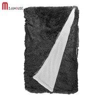 Velvet Mink Blanket Thick Yarn Dyed Solid Color Gray Pink Claret White Camel Blue Fleece Blankets For Beds Winter Thread Blanket