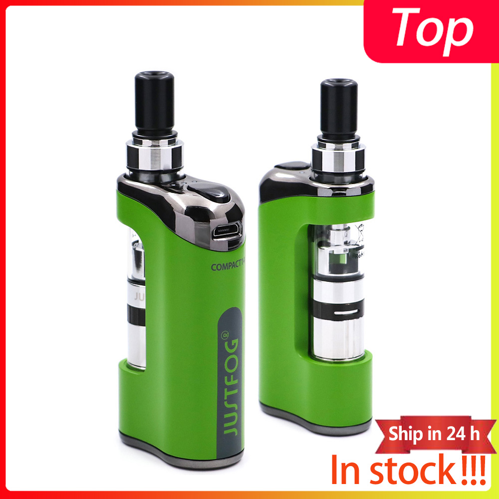 2pcs lot In stock E Cigarette JustFog Compact 14 Kit 1500mah built in battery with 1