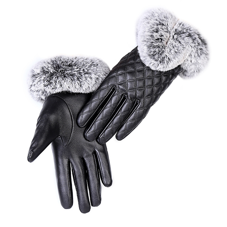 HTB1qdeGaBUSMeJjSszcq6znwVXa4 - KUYOMENS Fashion Women Warm Thick Winter Gloves Leather Elegant Girls Brand Mittens Free Size With Rabbit Fur Female Gloves