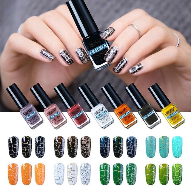 Elite99 38 coloré chanceux Gel ongles vernis Pigment fissure UV vernis à ongles professionnel fissuration vernis à ongles craquelé