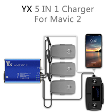 5 in 1 Mavic 2 Charger 3 Way Battery Charging 2 USB Port Remote