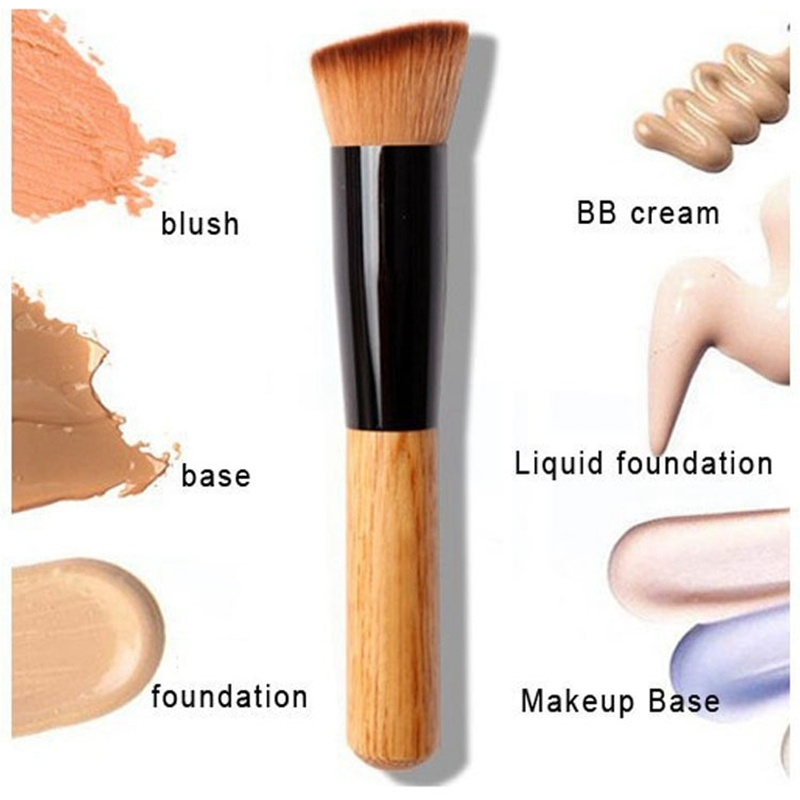 2017 Makeup brushes Powder Concealer Powder Blush Liquid Foundation Face Make up Brush Tools Professional Beauty Cosmetics new makeup brushes black aluminum retractable blush brush make up professional tools nice gift for you maquiagem face concealer