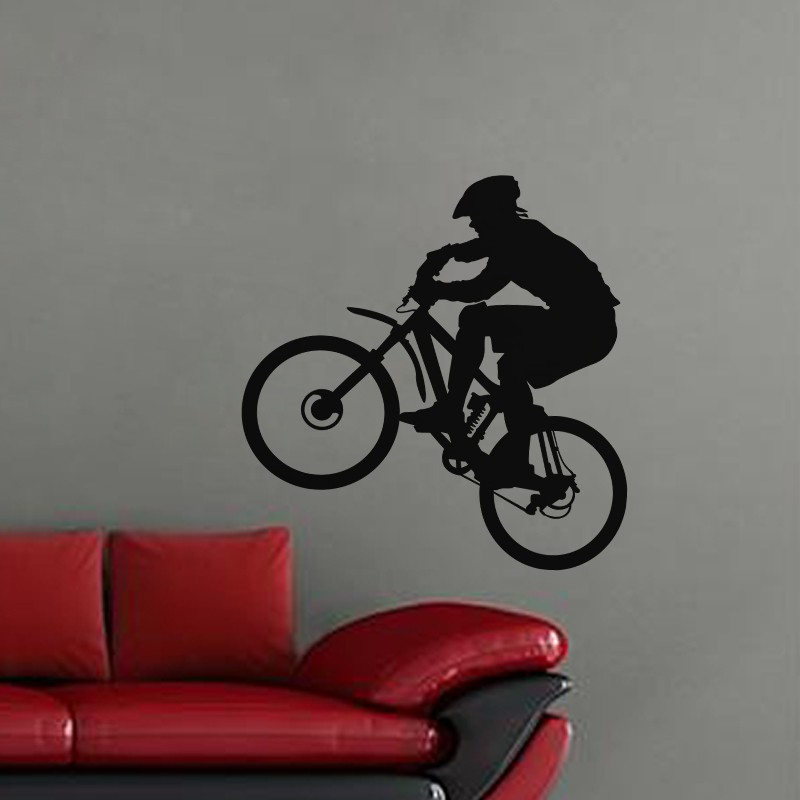 Mountain Cycling Wall Art Decal Extreme Sports Enthusiasts House Living Room Bedroom Decor Vinyl Removable Wall Stickers ZA221