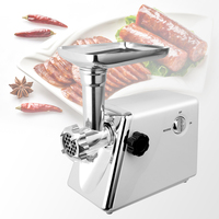1200w High Power Stainless Steel Home Electric Meat Grinder Sausage Stuffer Mincer Heavy Duty Household Mincer Sonifer