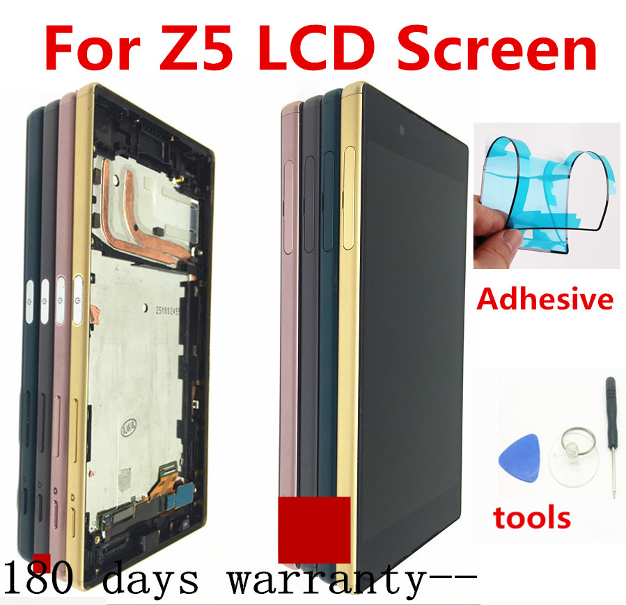 Para Sony Xperia Z5 E6633 E6683 LCD Screen Display Toque Digitador Assembléia com Frame Dual card 1920*1080 Para 5.2