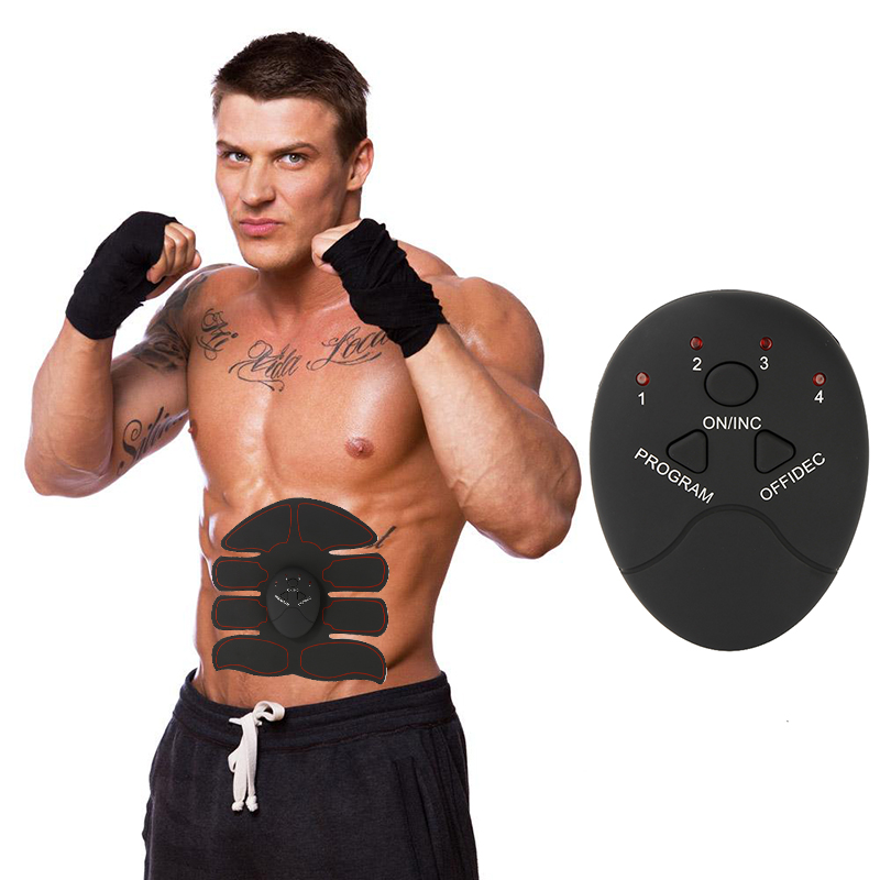 Active Smart Abdominal Muscle Trainer Sticker Body Sculpting Massager Stimulator Pad Fitness Gym Abs Arm Sports Stickers Training Ab Rollers Fitness Equipments
