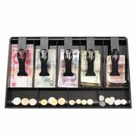 404x245x360mm argent caisse enregistreuse Insert plateau de remplacement caisse tiroir de stockage caisse enregistreuse plateau classer magasin