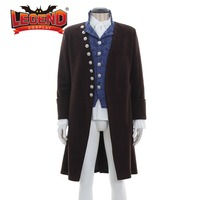 Colonial Victorian Edwardian Frock Coat Waistcoat or vest shirt cravat jabot men's outfit cosplay costume outfit wool jacket