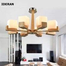 Деревянный лампы подвесные светильники Спальня E27 лампы Новинка 2017 внутреннего освещения дома тепло освещения спальни