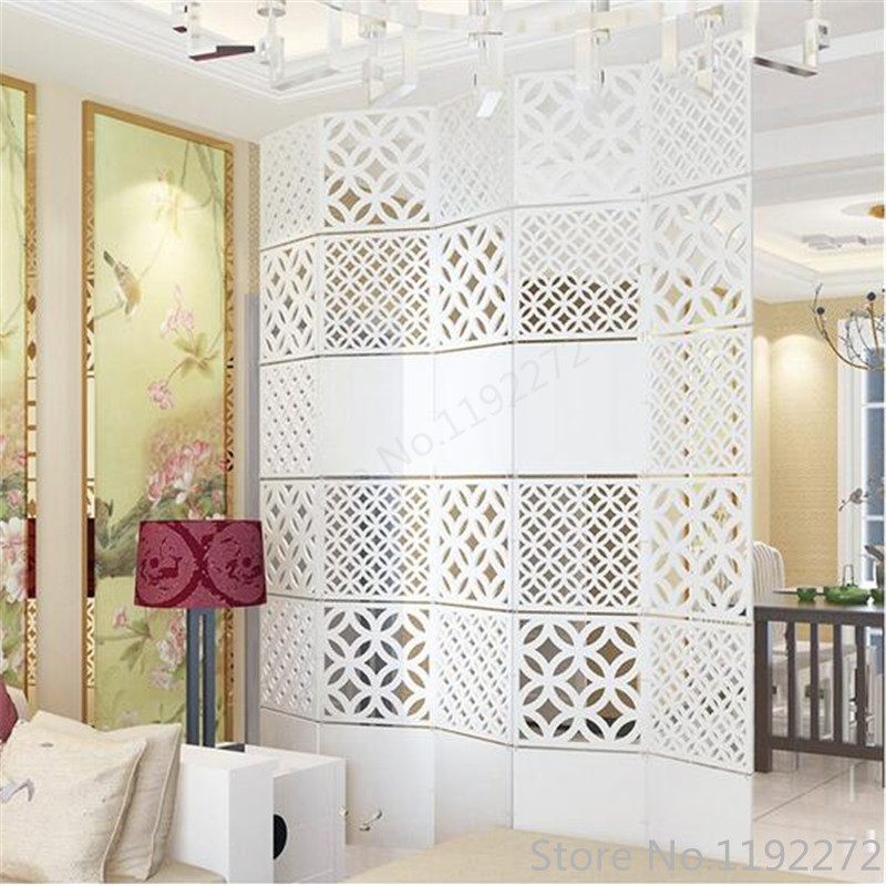 12pieces Modern Simple A living room Hanging folding screen Hollow White Dining room partition The entrance