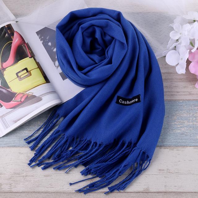 Luxury Unisex Wool Cashmere Scarf Pashmina Tassels