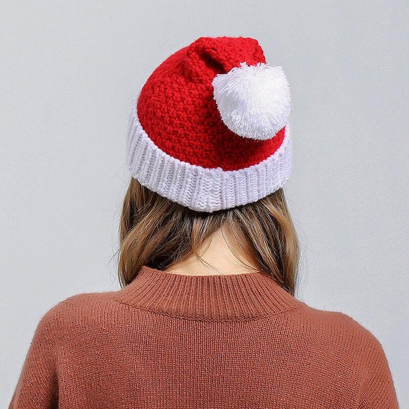894ac2330c0 Aliexpress.com   Buy Women Gilrs Beanie Christmas Hats Cute Women Bonnet Winter  Hat Santa Claus Xmas Hat Soft Knitted Wool Cap 2018 New Sweet Beanies from  ...