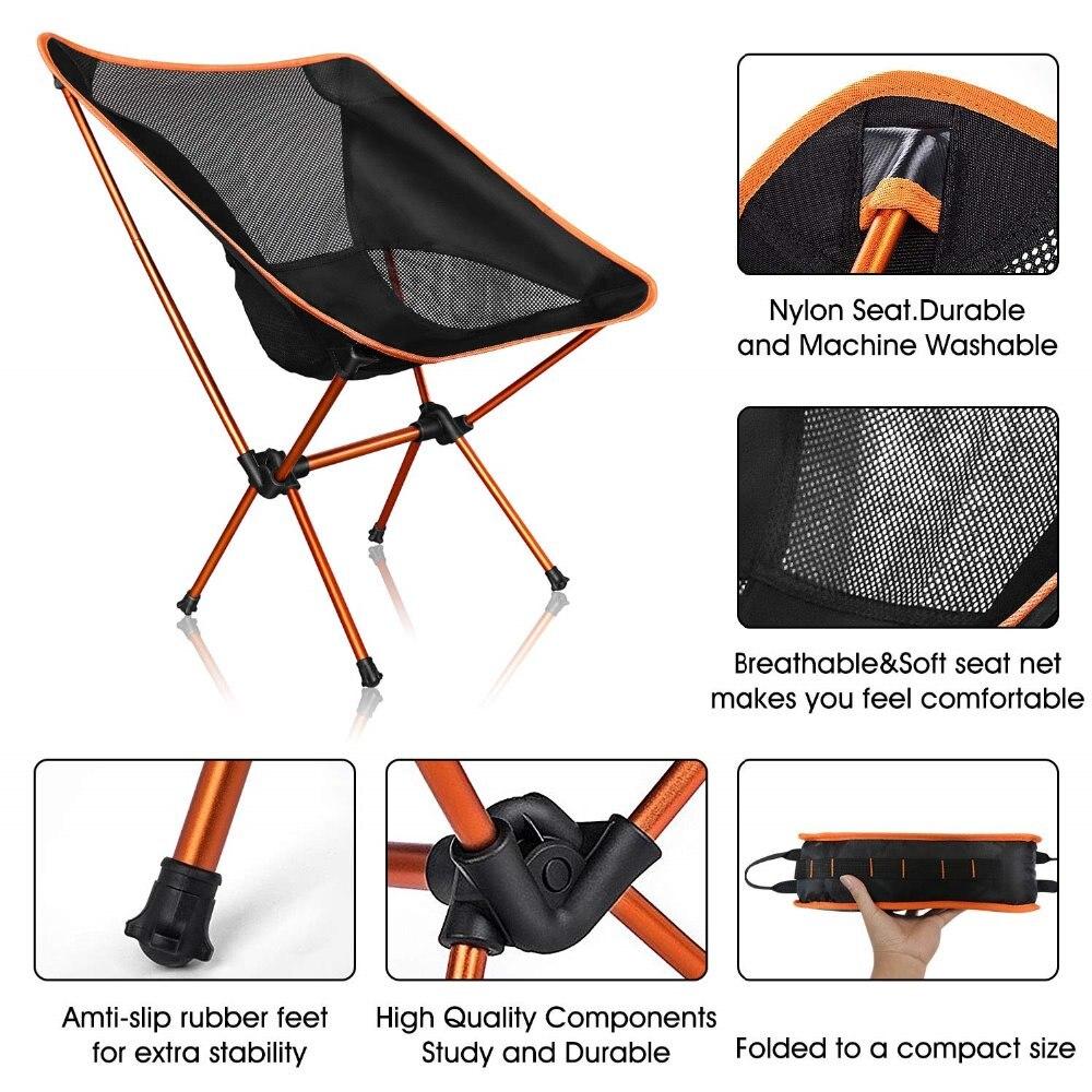 Image 3 - Дропшиппинг Портативный Легкий стул для рыбалки твердый табурет для кемпинга Складная уличная мебель садовый переносной, очень легкий стул-in Пляжные кресла from Мебель on AliExpress