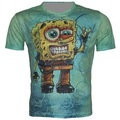 New Arrival SpongeBob T Shirts Men 3d t shirt Man O Neck Mens T-Shirt  Fashion Tops Tees Shirt