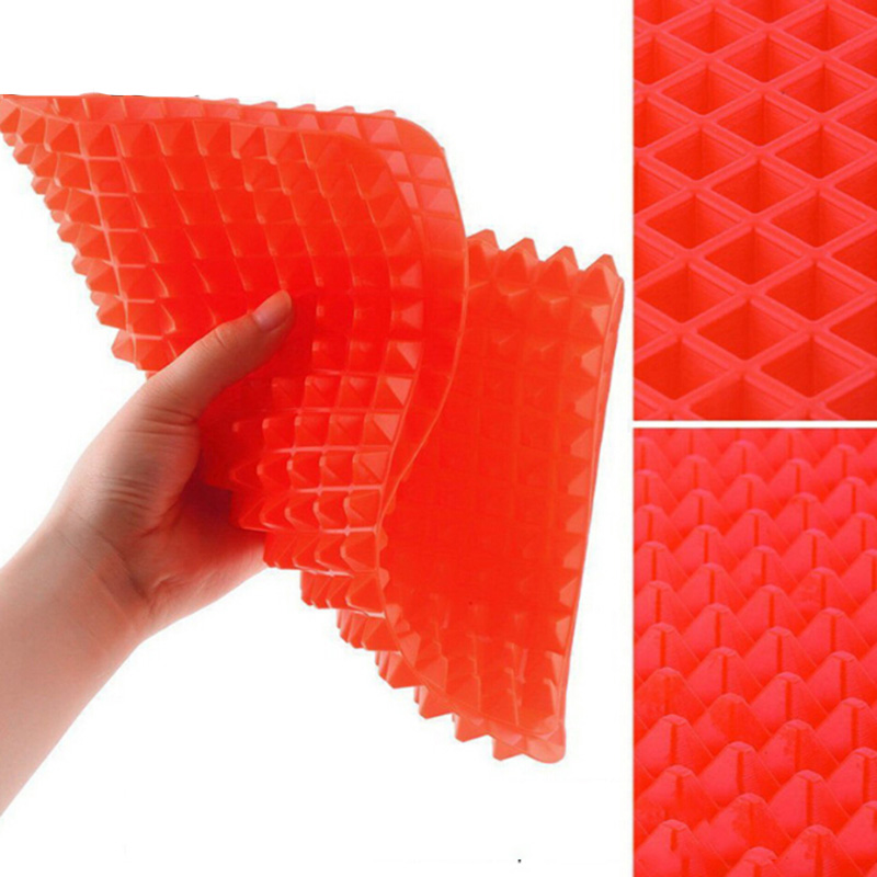Heat-resisting-Silicone-Cooking-Mat-Kitchen-Utensils-Household-Utensils-New-Pyramid-Pan-Fat-Reducing-Textured-Non (3)
