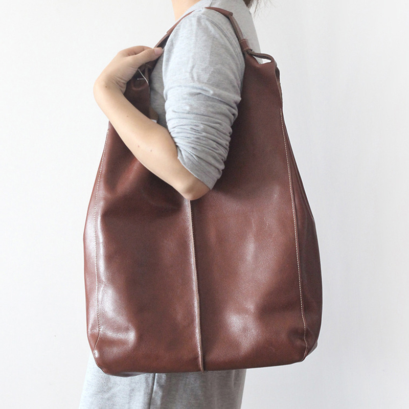 Fashion Genuine Leather Women Messenger Bags Soft Cowhide Leather Handbags women's Tote Bags ladies Handbag Female Shoulder Bag women genuine leather handbags ladies personality new head layer cowhide shoulder messenger bags hand rub color female handbags