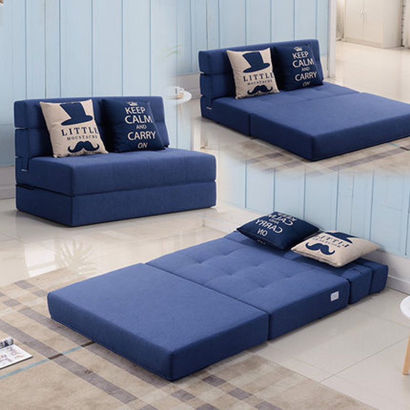 Quality comfortable spring sofa folding sofa bed living room furniture pure cotton density sponge sofa cama sofa bed furniture