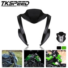 Green Black Motorcycle Front Headlight Upper Fairing Cowl Nose Fit For Kawasaki ER6N 2012-2016 ER-6N 13 14 15
