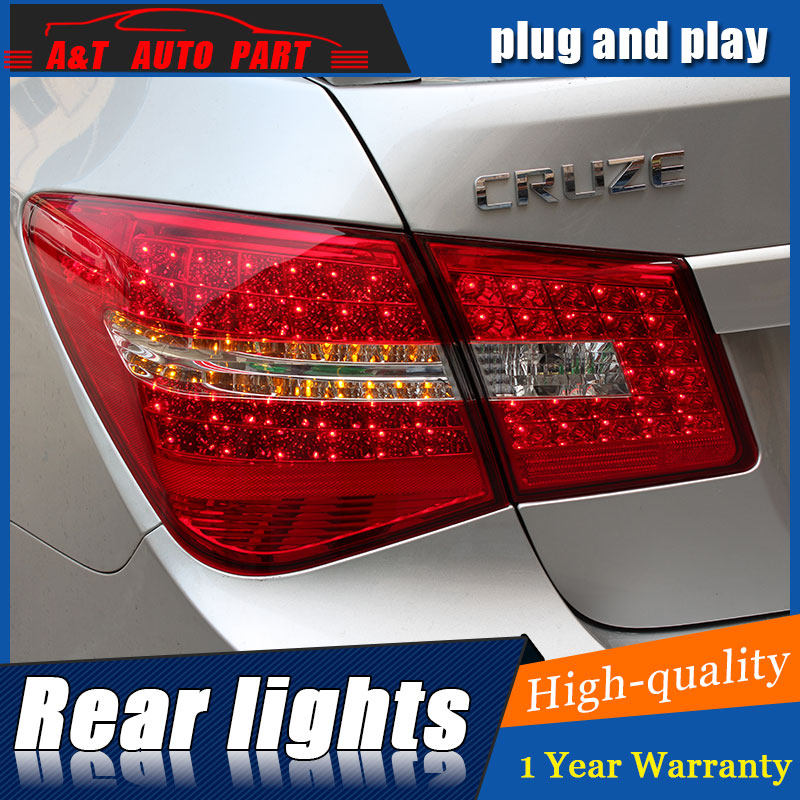 AUTO.PRO 2009-2014 for chevrolet cruze led taillights for chevrolet CRUZE LED rear lights car styling trunk lamp parking novline autofamily chevrolet cruze 2009 цвет черный