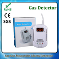 Cozinha Home Segurança CO Gás Combustível Detector de Vazamento de GLP GNL Carvão Gás Natural Sensor de Alarme Com Aviso De Voz de Alarme de Segurança