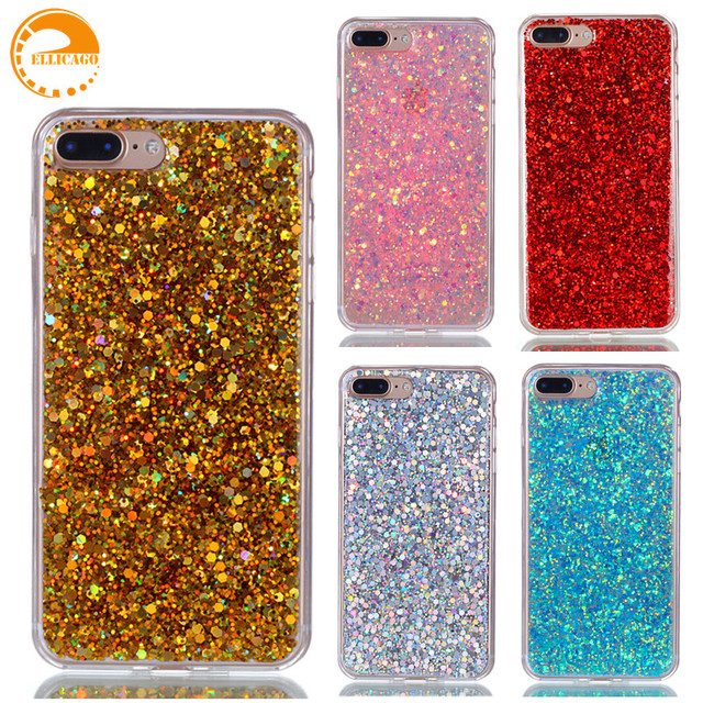 Cover for iPhone 7 Plus Case New Glitter Cute Luxury 3D Protective Phone  Case for coque iPhone 7 Plus Gold Pink Cute Capa Fundas 0f831a43dc96