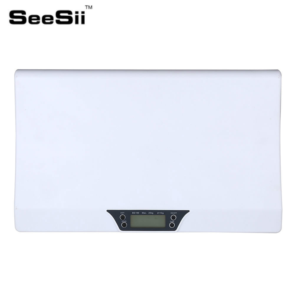 SeeSii Newborn Baby Infant Scale ABS LCD Display Weight Toddler Grow Electronic Meter Digital Professional up to 20kg seesii newborn baby infant scale abs lcd display weight toddler grow electronic meter digital professional up to 20kg