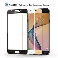 Vidrio templado de cobertura completa para Samsung Galaxy J5 J7 Prime C5 C7 S6 S7 C5000, película protectora de pantalla para Galaxy A3 A5 A7 2017 2016