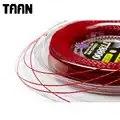 TAAN 1.20 milímetros 1 Poder Carretel Rotação Torção Corda De Treinamento De Tênis Raquete De Tênis Cordas de Poliéster Preto 200 m