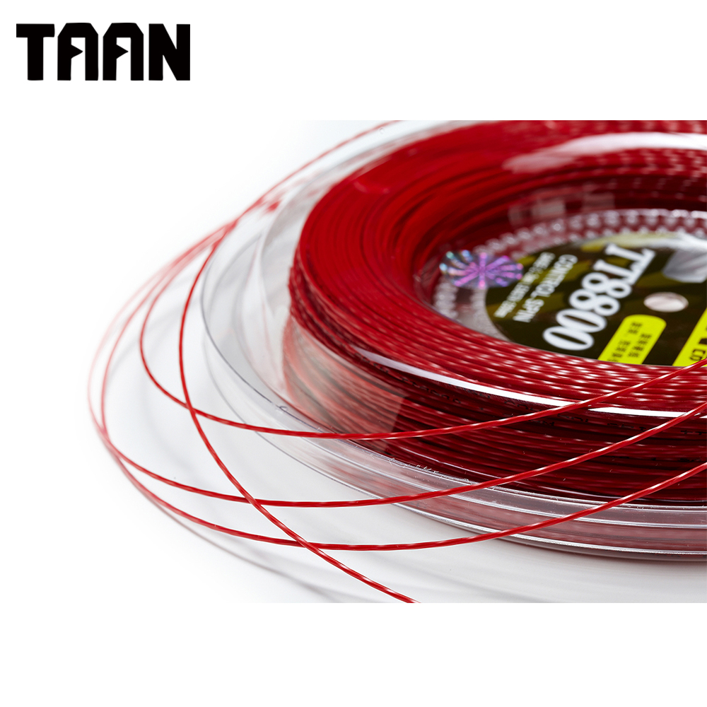 TAAN 1.20mm 1 Reel Power Spin Twist Tennis Racket String Polyester Black Tennis Training String 200m powerti hexagonal polyester tennis string 200m reel string durable 1 25mm tennis racket tennis racquet tsb10