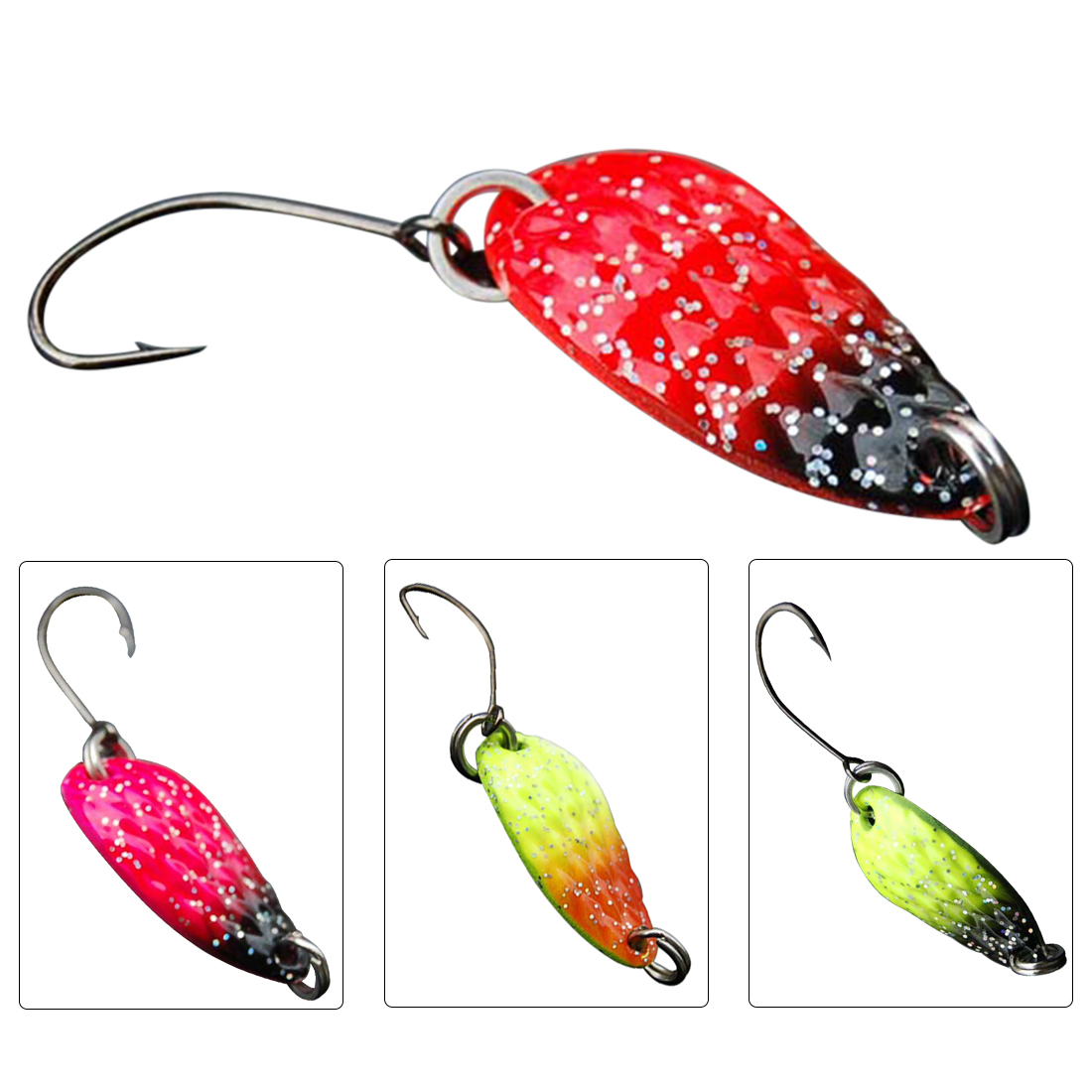 Hot 1PCS 3cm 3g Sequins Spinner Spoon Fishing Lure Bait Fishing Tackle Metal Spoon Bait For Trout Bass Spoons Small Hard Baits