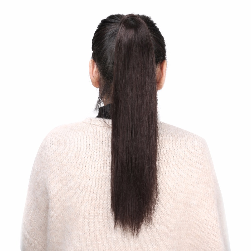 BHF Straight Ponytail Human Hair All Colors European Remy Human Hair Ponytail Extensions Tail of Human