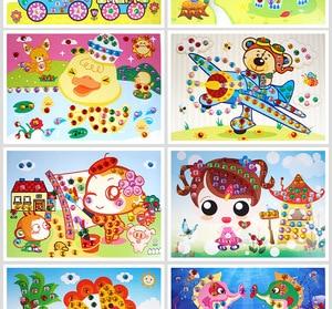 Image 4 - 20 יח\חבילה צעצועים לילדים פסיפס יהלומים מדבקות פאזל גליטר Eva AR צעצועי ילדים מתנות 12.5x17cm משלוח חינם