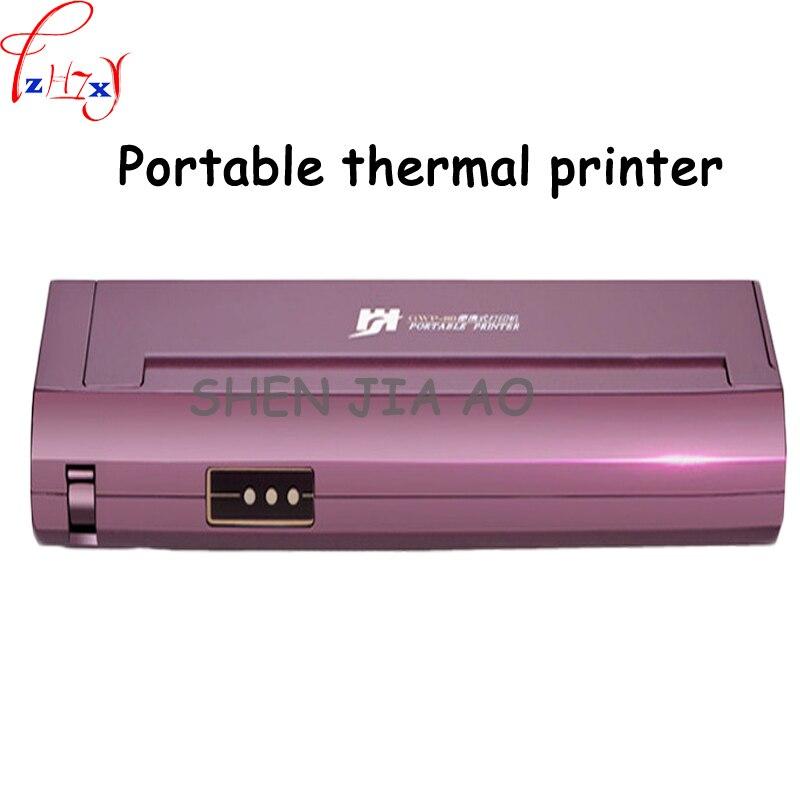 Mini Portable A4 Papier Imprimante de Bureau À Domicile De Voiture Mobile Bluetooth Portable Noir et Blanc Thermique Imprimante 1 pc