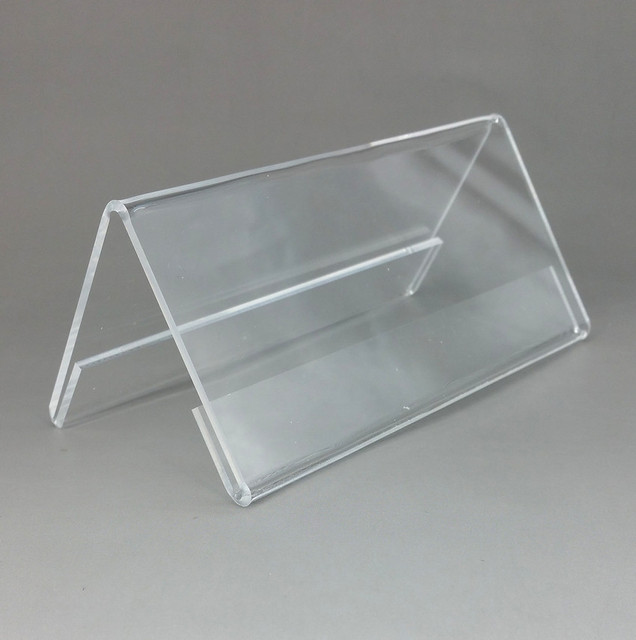 200x75mm Plastic Clear Acrylic T2mm Sign Display Promotion