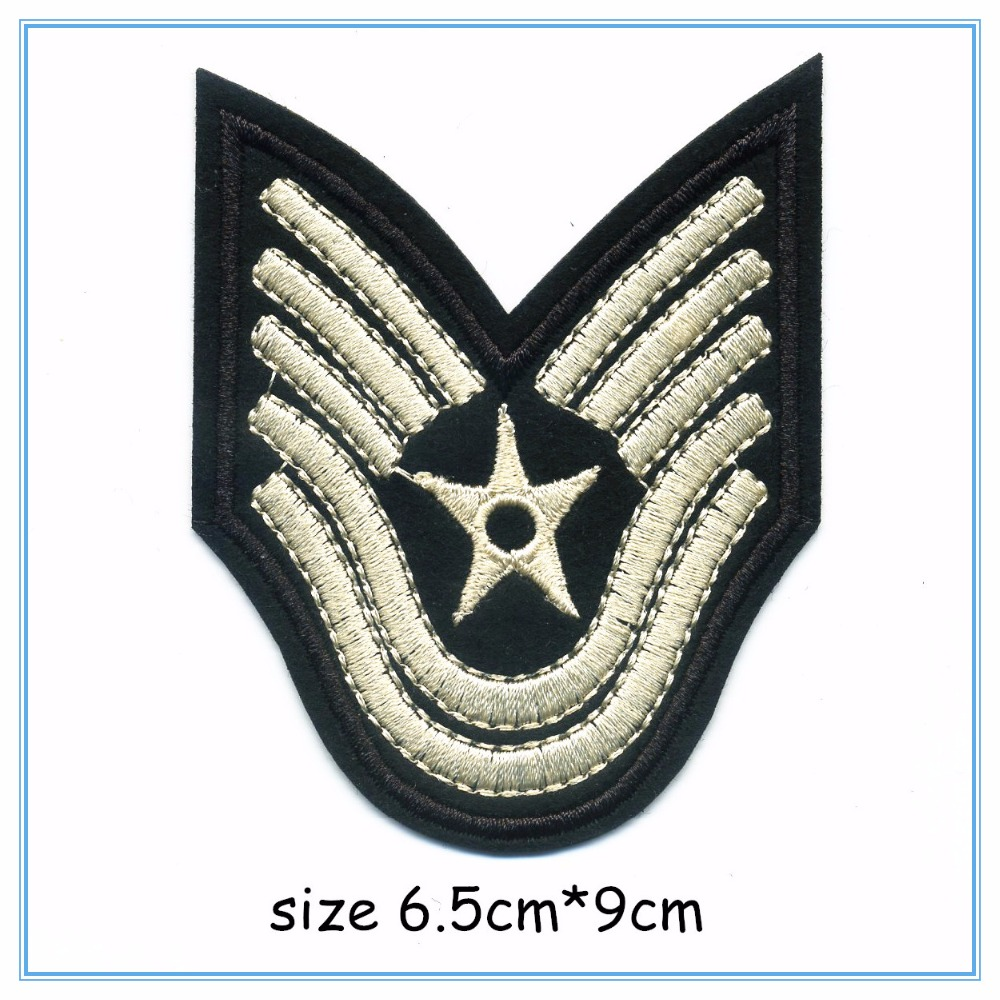 DOUBLEHEE 007 5 Stars Army College Style Embroidery Patches Iron On Or Sew Fabric Sticke ...