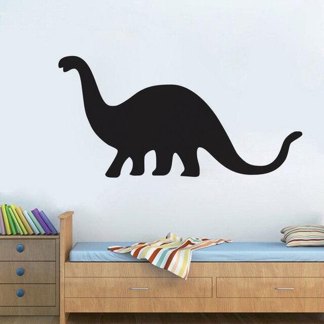 Children Favorite Black Simple Design Dinosaur Wall Decal Pvc Vinyl Vintage Animal Mural Baby Nursery