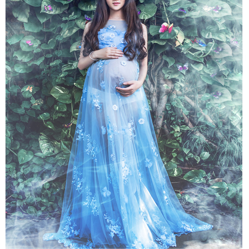 Maternity Lace Dress for Photo Shoot Pregnancy Photography Long Mermaid Lace Dress Pregnant Women Gown Baby Showers foto Clothes smdppwdbb maternity dress maternity photography props long sleeve maternity gown dress mermaid style baby shower dress plus size