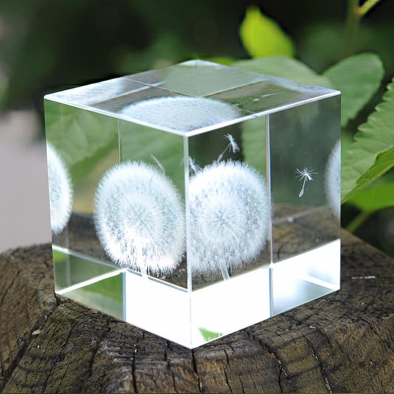 6cm Crystal Πικραλίδα Cube Crafts 3D Laser - Διακόσμηση σπιτιού - Φωτογραφία 6
