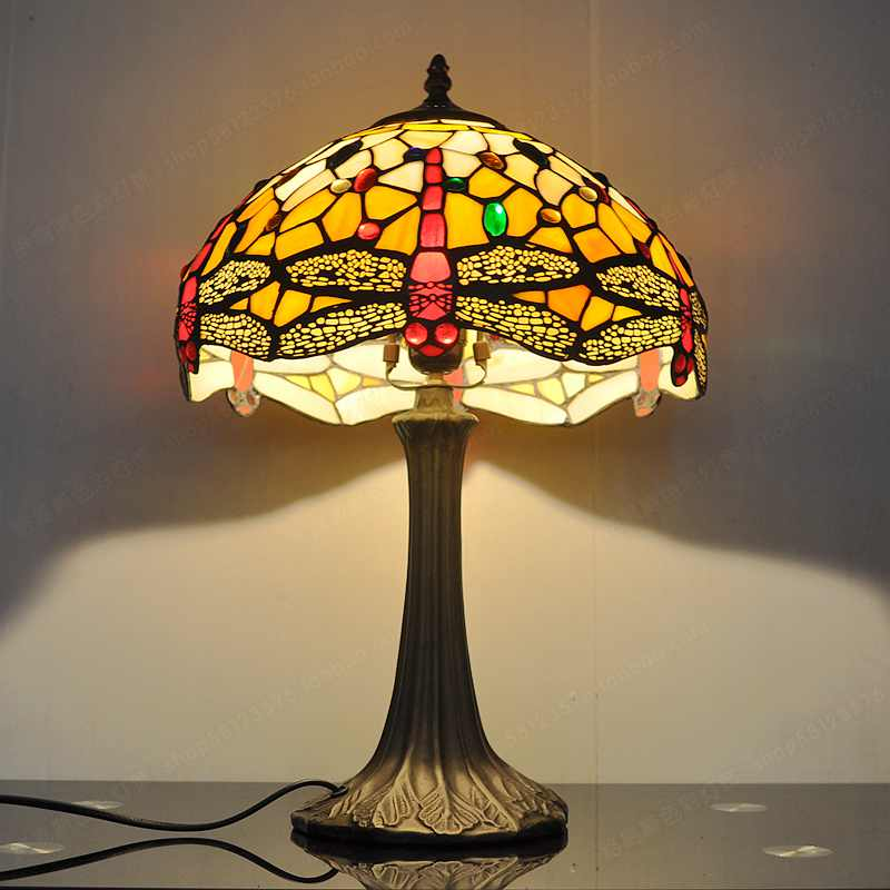 intended nerja decor dragonfly lamp tiffany for inch t table