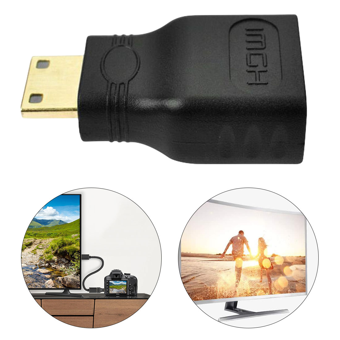 Male Type C To Female Type A Adapter Plug For 1080p 3D HDMI Connector TV USB Charger USB Adapter