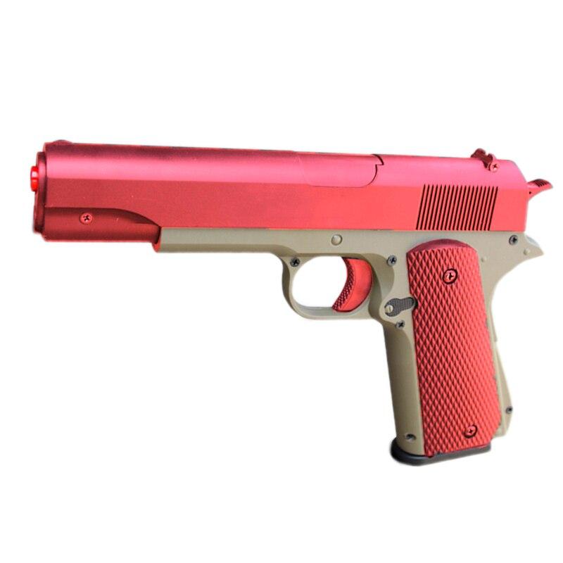 Plastic Toys Model Kit M1911 Model Gun Weapon Assembly Slidable Pistol Kids Birthday Gift Hobby Collection Toys for Children